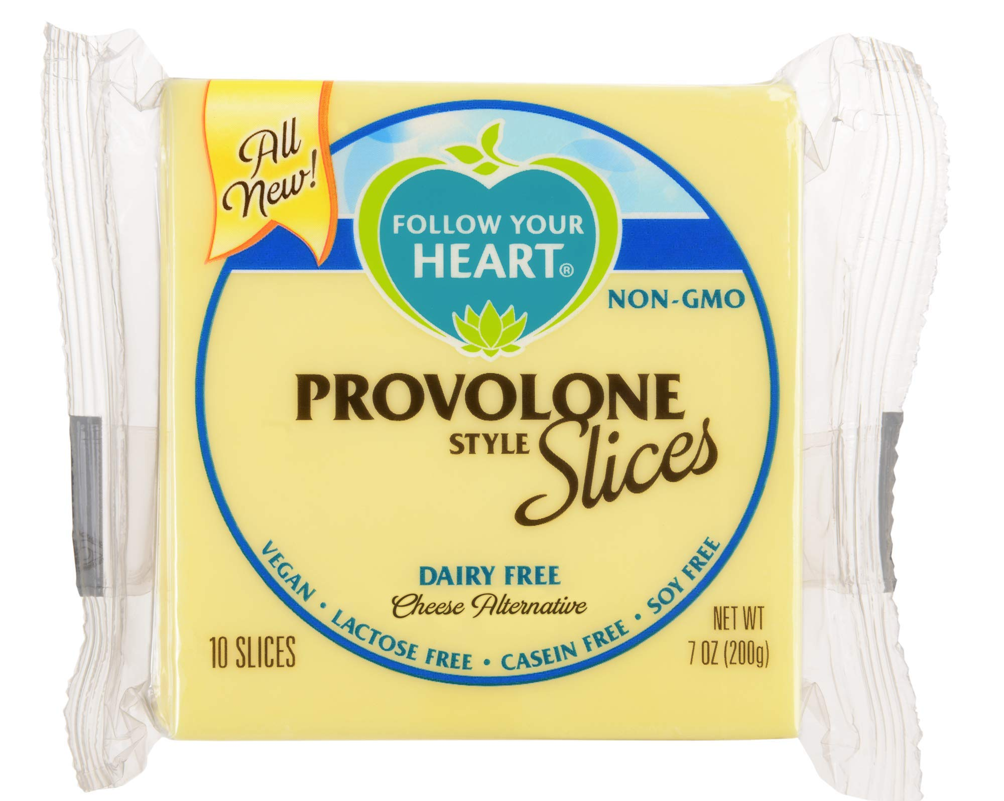 Follow Your Heart, Vegan Provolone Cheese Slices 7oz ( 3 Pack)