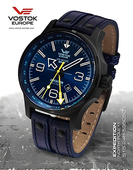Vostok Europe Expedition North Pole relojes hombre 515.24H-595C503: Amazon.es: Relojes
