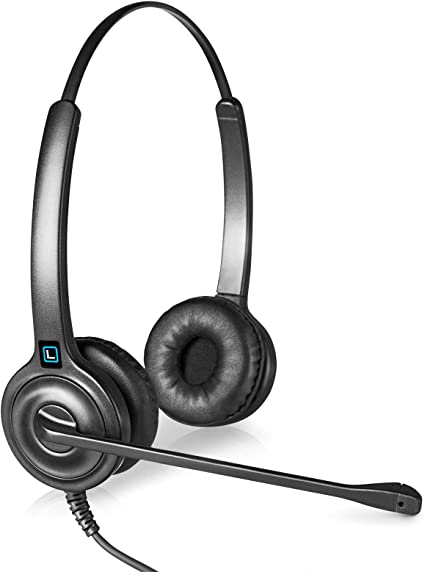 Amazon Com Leitner Lh245 Dual Ear Corded Telephone Headset With 2 5mm Connector For Cordless Home Telephones Includes 5 Year Warranty Home Audio Theater