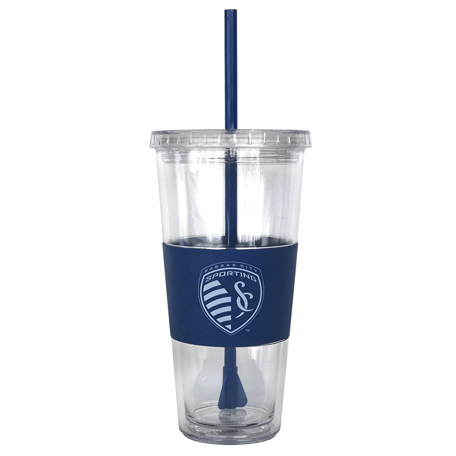 22-ounce Boelter Brands 321829 MLS Sporting Kansas City Double Wall Straw Tumbler