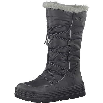 the best attitude 82408 975e8 Tamaris Damen Winterstiefel 26631-31,Frauen  Winter-Boots,Fellboots,Fellstiefel,Wasserabweisend,Blockabsatz 5cm