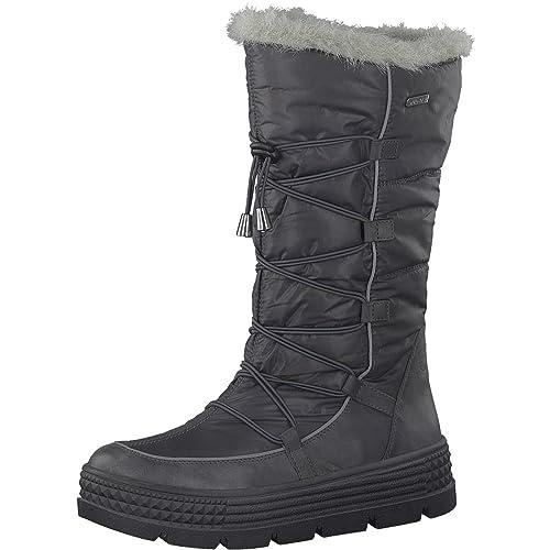 Tamaris Damen Winterstiefel 26631 31,Frauen Winter Boots,Fellboots,Fellstiefel,wasserabweisend,Blockabsatz 5cm