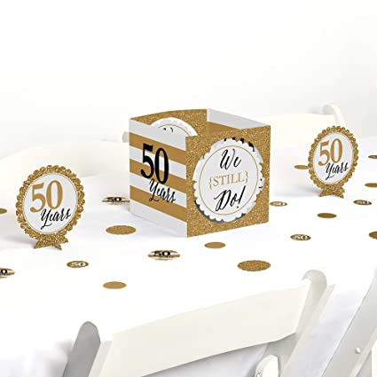 Wondrous Big Dot Of Happiness We Still Do 50Th Wedding Anniversary Party Centerpiece Table Decoration Kit Download Free Architecture Designs Embacsunscenecom