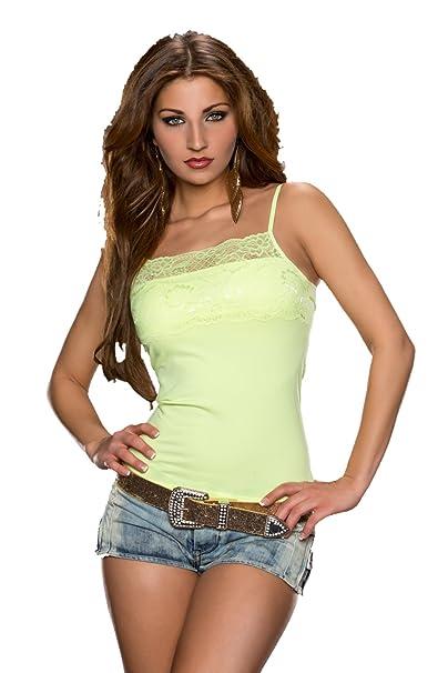 Tamaño De 810 Mujer Amazon Y es 4042 Eu 1214 Talla Camiseta Sexy Accesorios Top Fiesta Encaje Chaleco Clubbing Ropa Uk Tank Katia 3638 Ux1wH8q6U