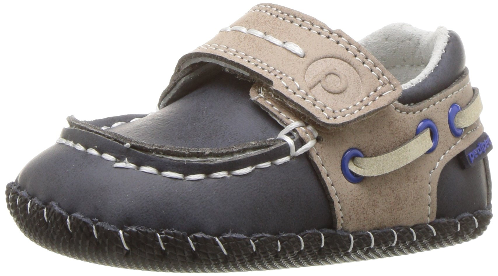 pediped Boys' Norm Crib Shoe, Navy, 6-12 Months Regular EU Infant (6-12 Months US) by pediped