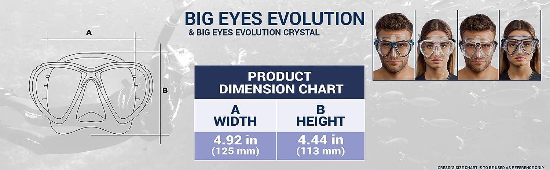 Cressi DS336550 Big Eyes Evolution Black//Black