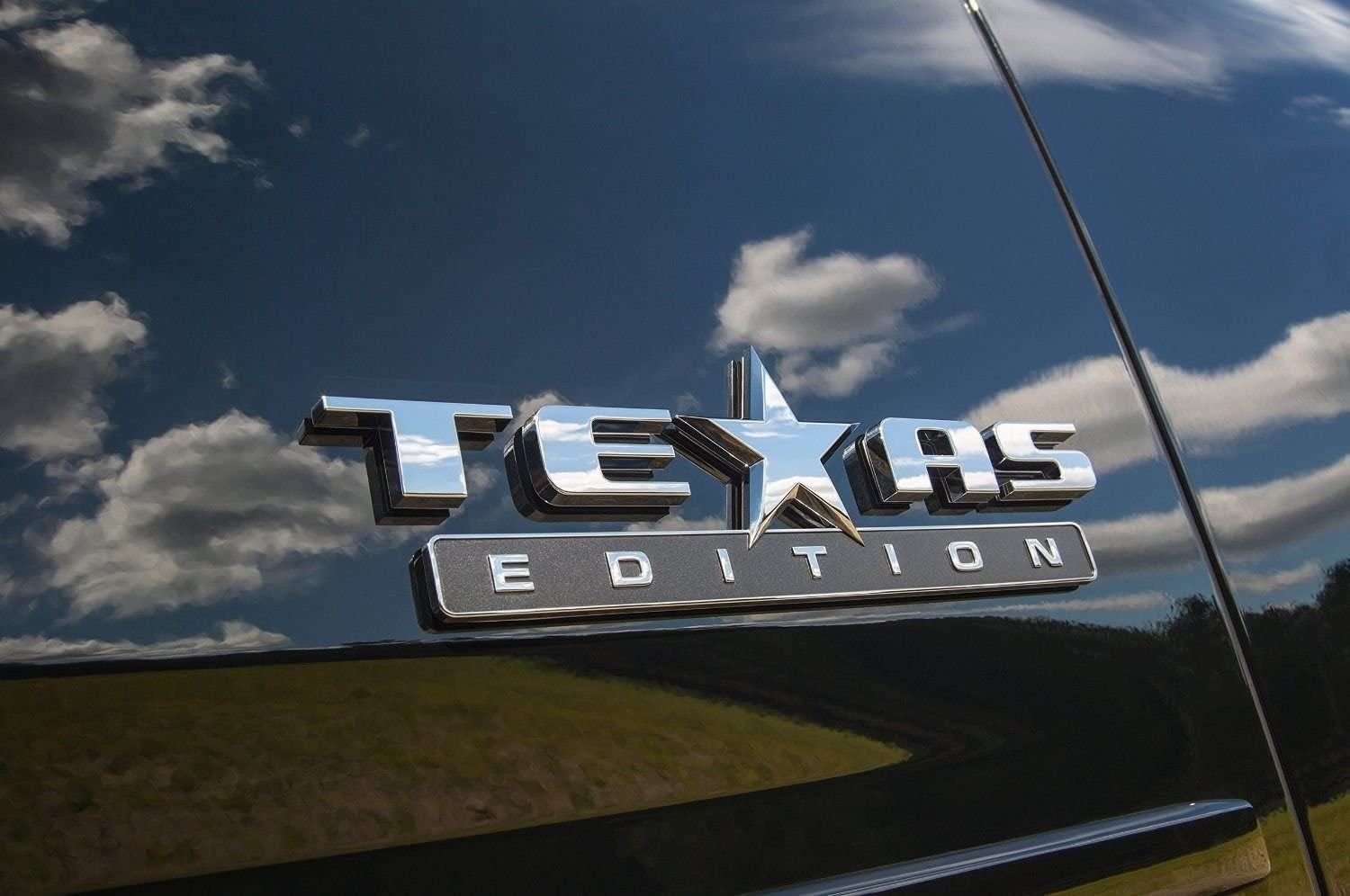 TEXAS FLAG EDITION Emblem Badge Truck Tailgate Sticker Decal ABS Chrome