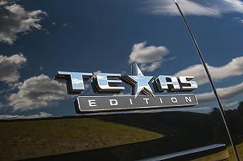 Texas Edition Tahoe >> Muzzys Texas Edition 3m Stick On Emblem Badge Fits Gmc Sierra Chevy Silverado Suburban Tahoe Ford F150 Dodge Ram Nissan Titan Truck