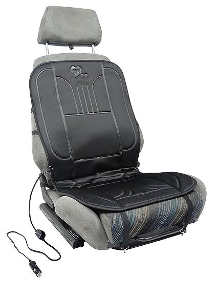 Funda de asiento calefactable 12V universales para EL CONDUCTOR para coche, furgonetas, autocaravana MY SEAT HEATER TO GO el cojin irradia un calor ...