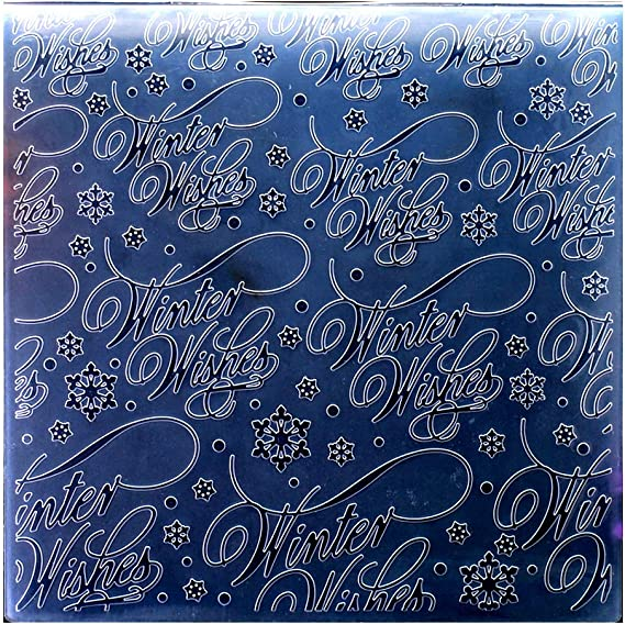 15x15cm Kwan Crafts Christmas Snowfall Plastic Embossing Folders for Card Making Scrapbooking and Other Paper Crafts