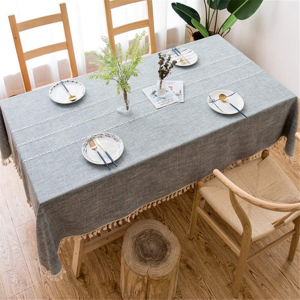 DUJUN Manteles Resistente a Las Manchas Cuidado Fácil Lavable Mantel de Lino,Mantel de Lino de algodón Simple y Fresco. A-2 140 * 240cm: Amazon.es: Hogar