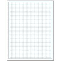 "8-1/2 x 11"" / Blueprint and Graph Paper (1 Pad, 50 Sheets Per Pad)"