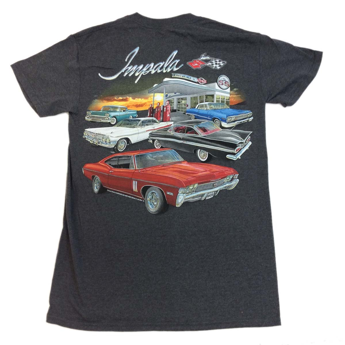 Joe Bloe Tees Mens GM Chevy Impala Gas Station Short Sleeve T-Shirt
