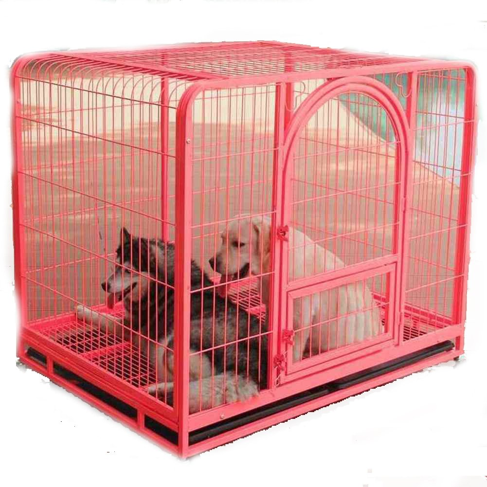 ペット犬ケージ,折り畳み式の金属製犬クレート 大型犬ゴールデン箱 背の高い犬ベビー サークル ペットの単一のドアのホーム トレーニング箱 屋内 屋外テント フェンス-ピンク 96x65x82cm(38x26x32inch) B07CVVLBK6 24106 96x65x82cm(38x26x32inch)|ピンク ピンク 96x65x82cm(38x26x32inch)