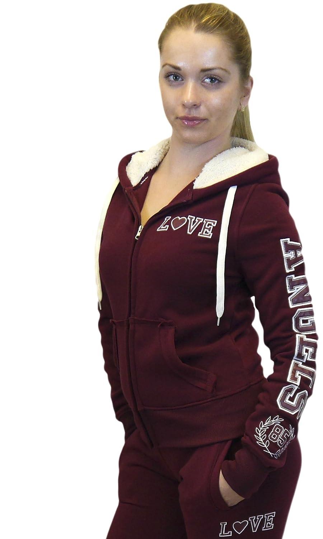 Roma Concept Love Angels 85 Sherpa Hood Full Zip Jacket Hoodie