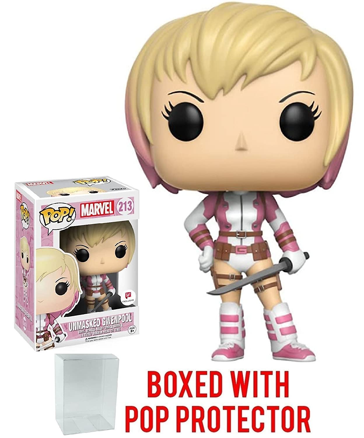Vinyl Figure FUNKO 213 Marvel Gwenpool Unmasked Exclusive Pop