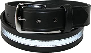 product image for Boston Leather Men's Leather Work Belt with Reflective Safety Stripe