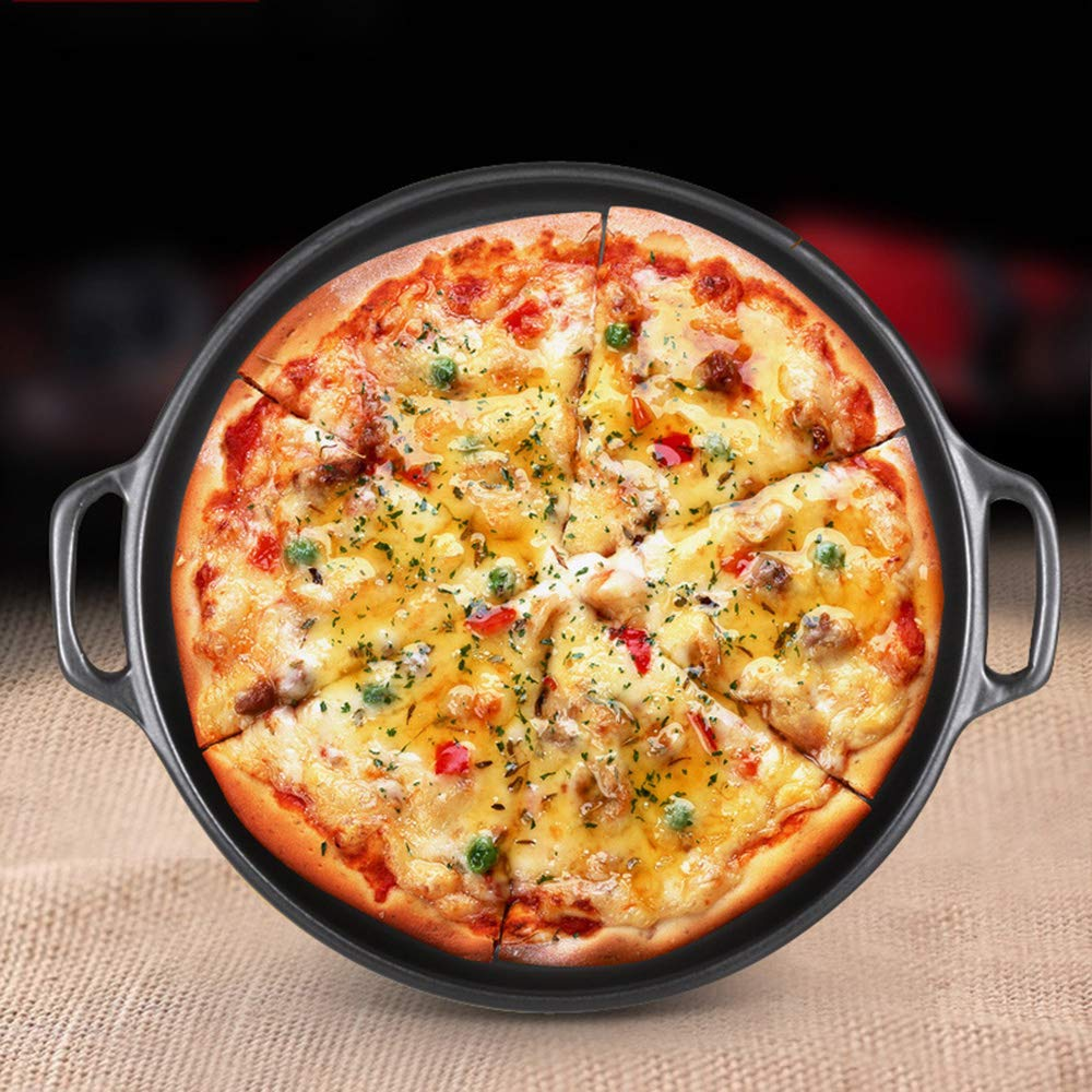 Casserole, pan made of ceramics   steak pizza baking tray   suitable for induction   diameter 29 2.5cm round, uncoated pot heat resistant 800 ° C,322.5CM by DOKJ (Image #1)