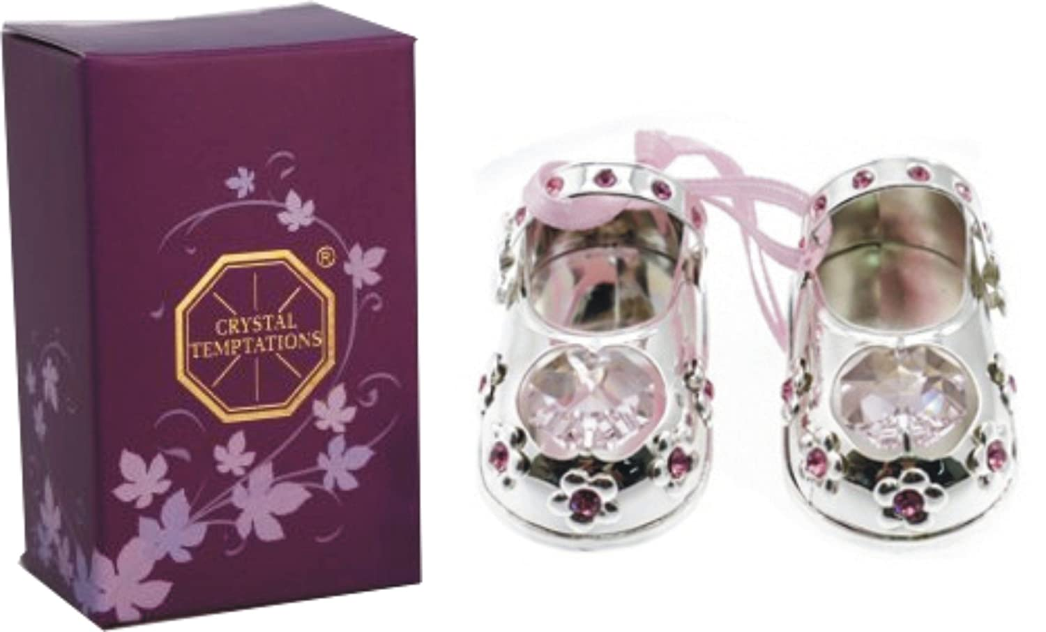 9726e5882eb Christening Baby Girl Gift Silver Plated Baby Shoes with Swarovski  Elements: Amazon.co.uk: Computers & Accessories