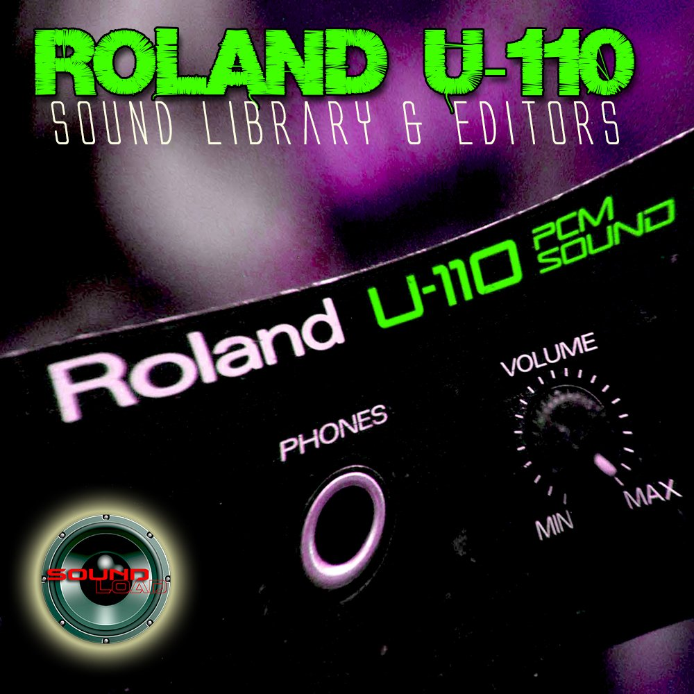 for ROLAND U-110 Huge Original Factory & new Created Sound Library & Editors on CD or download