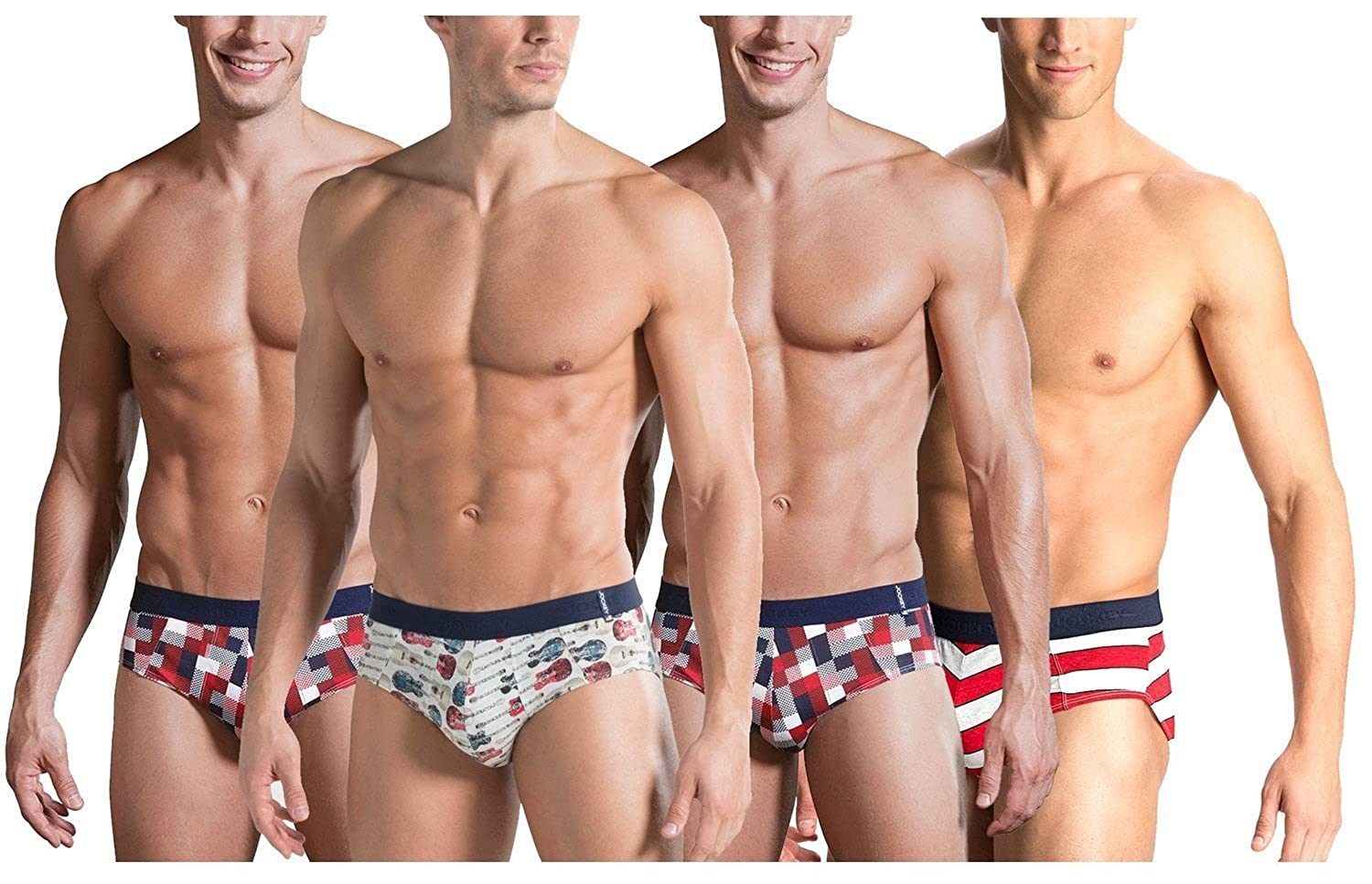 Jockey Men s Briefs (Pack of 4) Assorted Large  Amazon.in  Clothing    Accessories 7222af35552