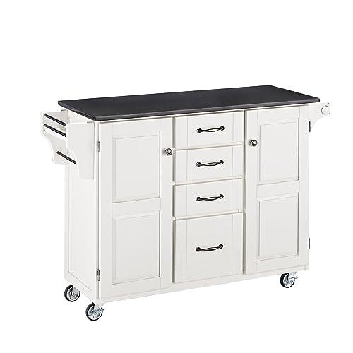 Create-a-Cart White 2 Door Cabinet Kitchen Cart