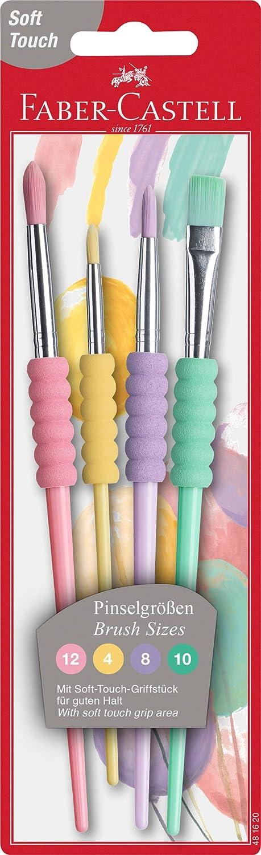 Faber-Castell Pinsel 4er Set Pastell Softgriffstück