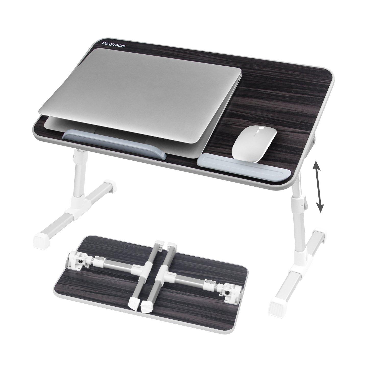Nearpow ajustable soporte para portátil mesa de cama bandeja portátil escritorio de