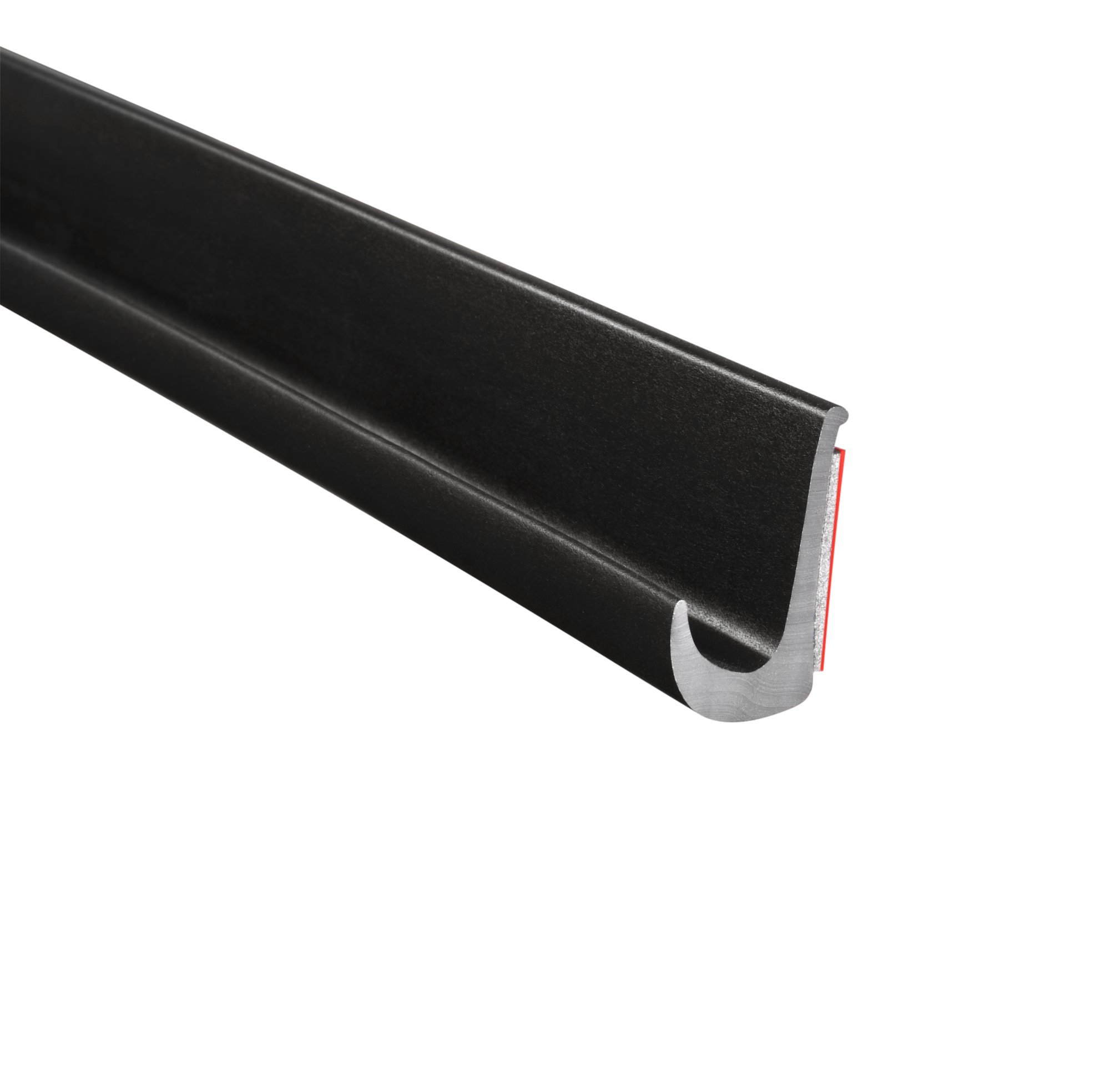 "Trim-Lok Drip Rail – Black, PVC Plastic Rain Gutter for Cars, Vans, and RVs – Installs with Durable 3M Tape – 1/2"" Height, 125' Length"