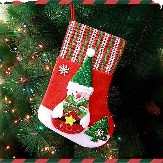 LEEDY Calcetines de Navidad de Papá Noel, Adornos, Festivales, Fiestas, árbol de Navidad, decoración Colgante, Adornos de Bolas de Navidad, Accesorios de ...