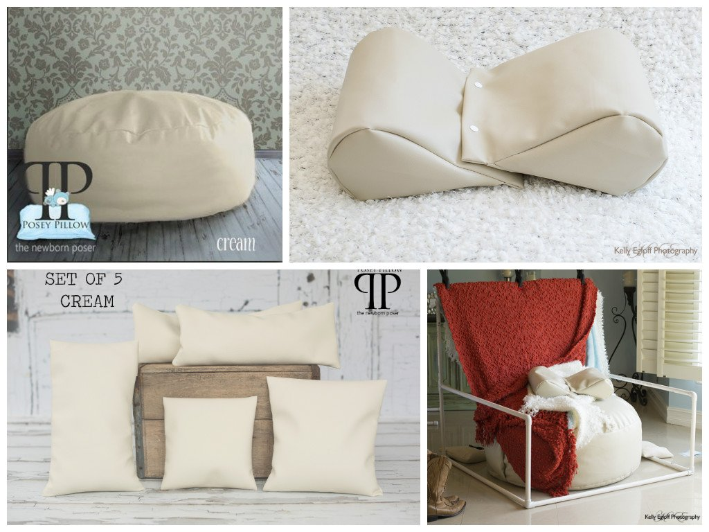 STARTER SET #1 ~ STUDIO POSEY PILLOW, FULL SIZE BACKDROP STAND, SQUISHY POSER & SET OF 5 POSEY POSITIONERS ~ NEWBORN PHOTO PROP