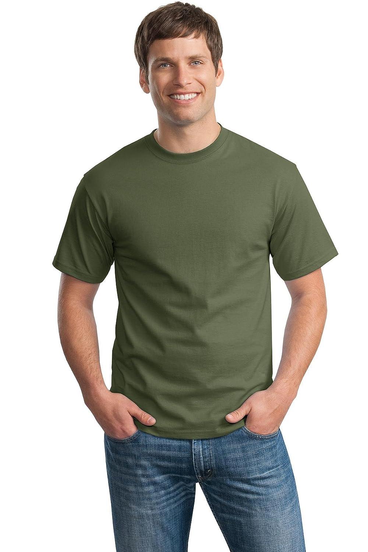 Hanes Premium Tagless Ts in Fatigue Green XX-Large