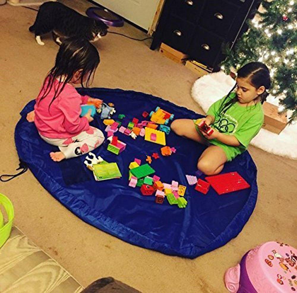 Estera de juego para niños BigNoseDeer bebé plegable de almacenamiento de juguetes bolsa de niños de alfombrilla niño organizador de 60 pulgadas (150 cm) (La luz roja) Ltd La50