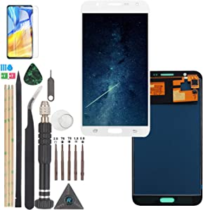 Replacement for Samsung Galaxy J7 2015 J700 LCD Screen Touch Screen Digitizer J700T J700F J700H J700M LCD Display with Repair Tools(White)
