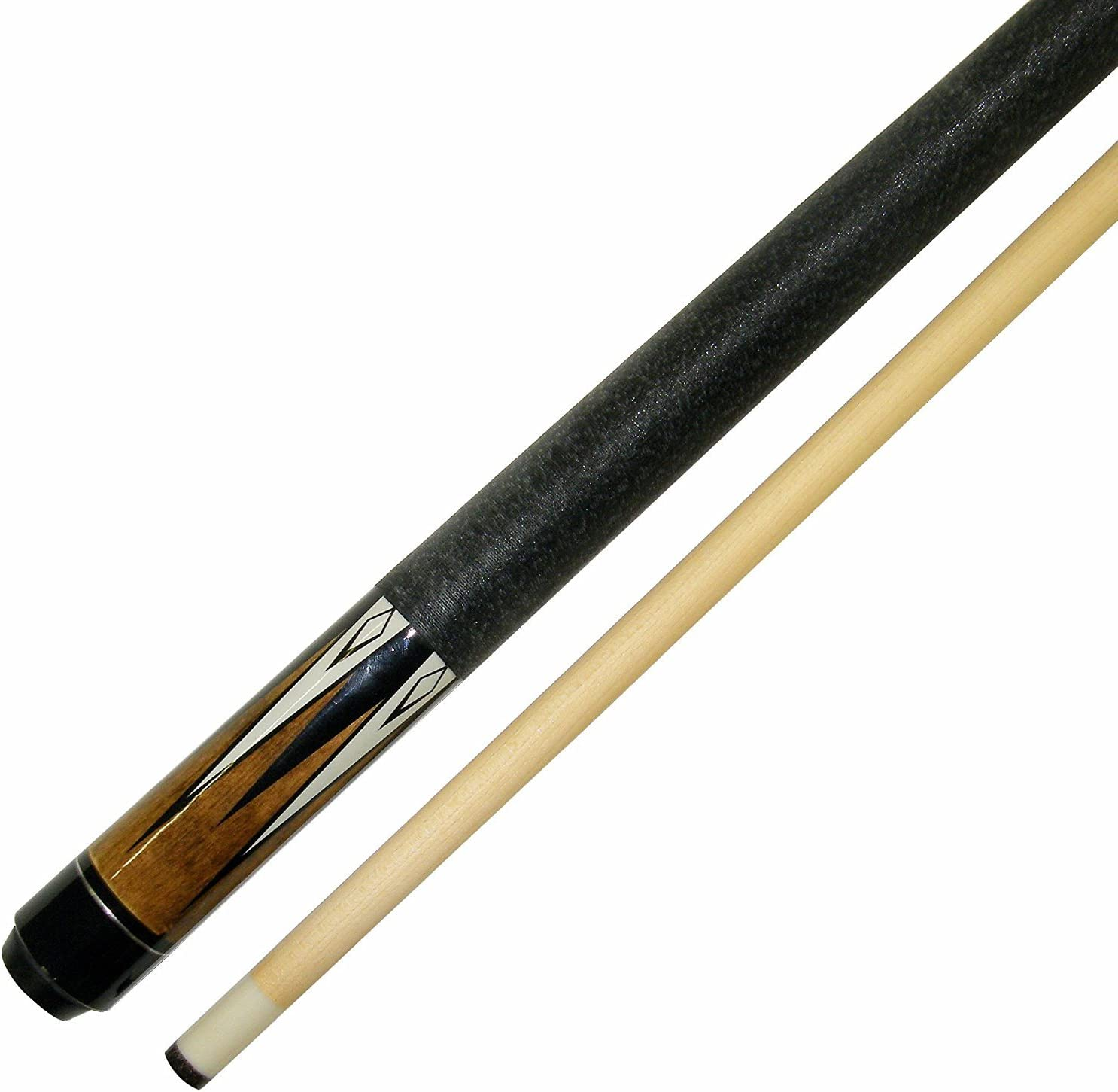 "Short 42"" 2 Piece Hardwood Maple Pool Cue - Billiard Stick Several Colors To Choose From 16 - 17 Ounce"