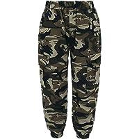 Agoky Pantalones de Combate para Niños y Niñas Moda Pantalon Cargo de Camuflaje Militar Pantalon de Danza Hip Hop…