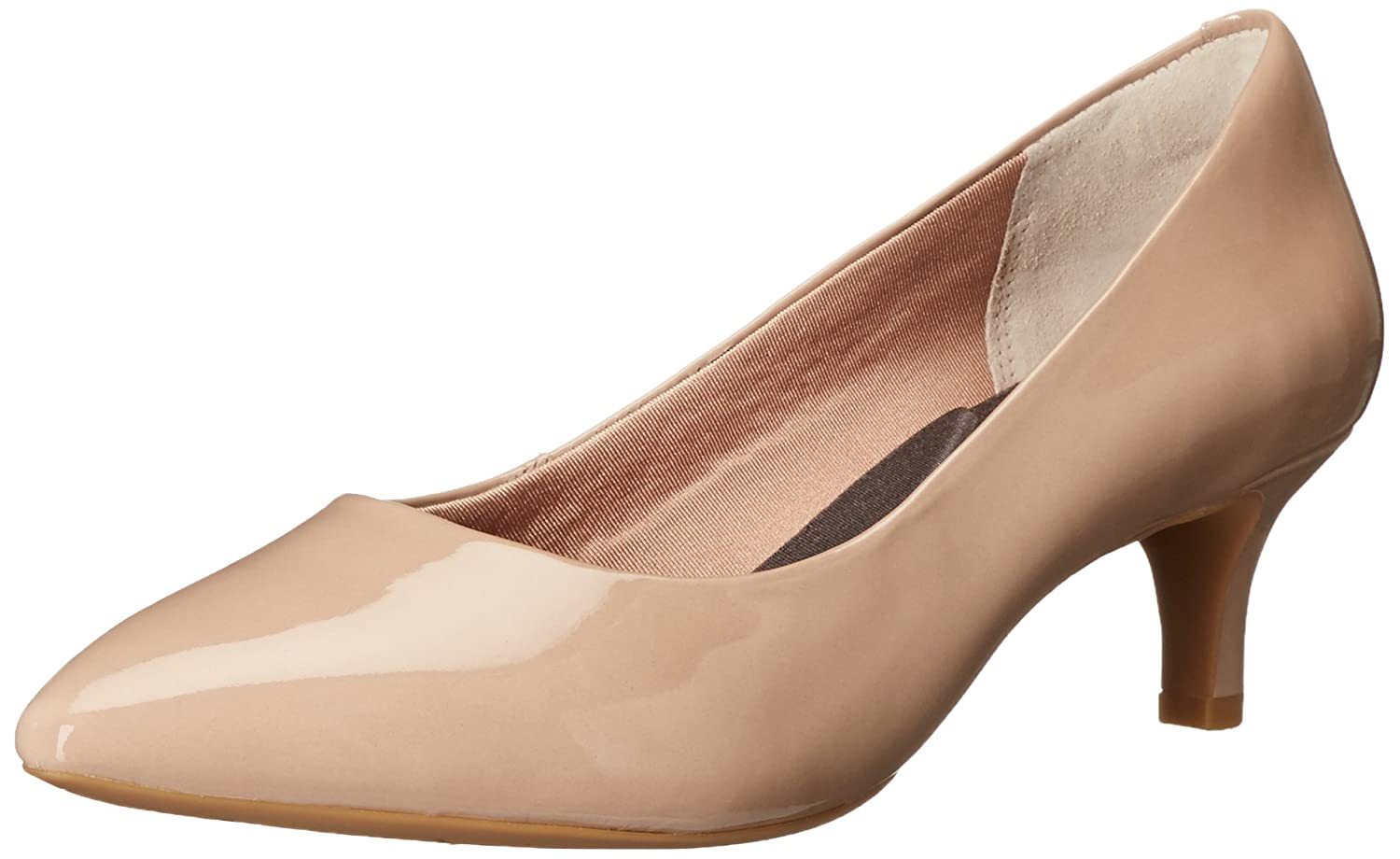 Rockport Women's Total Motion Kalila Dress Pump B01ABS0R2Q 8 N US|Warm Taupe Patent