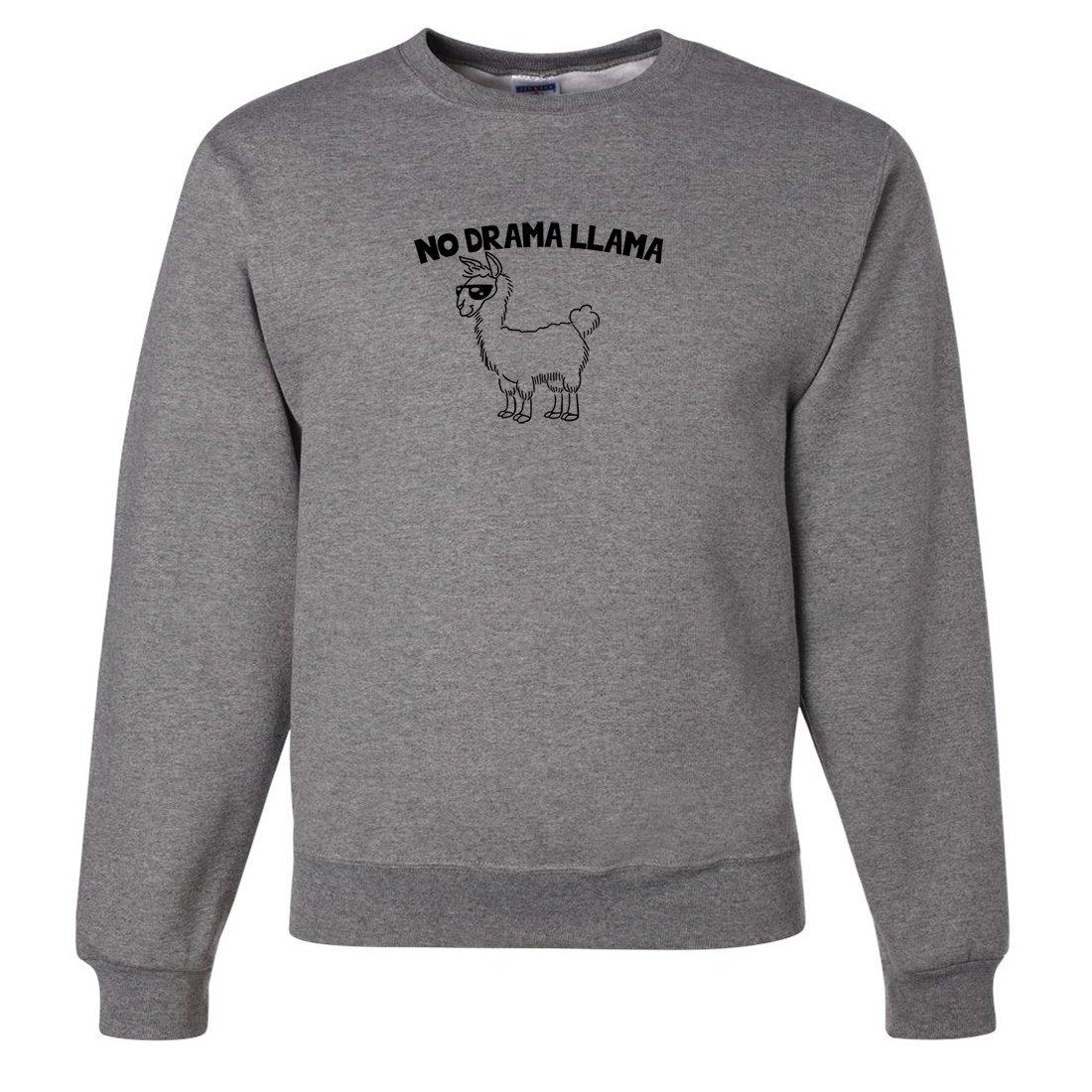 Oxford XXLarge Dolphin Shirt Co No Drama Llama Crewneck Sweatshirt