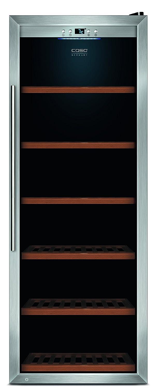 CASO WineSafe 137 Design Weinkü hlschrank fü r bis zu 137 Flaschen (bis zu 310 mm Hö he), eine Temperaturzone 5-20° C fü r Rotwein oder Weiß wein, Geträ nkekü hlschrank, Energieklasse B 668