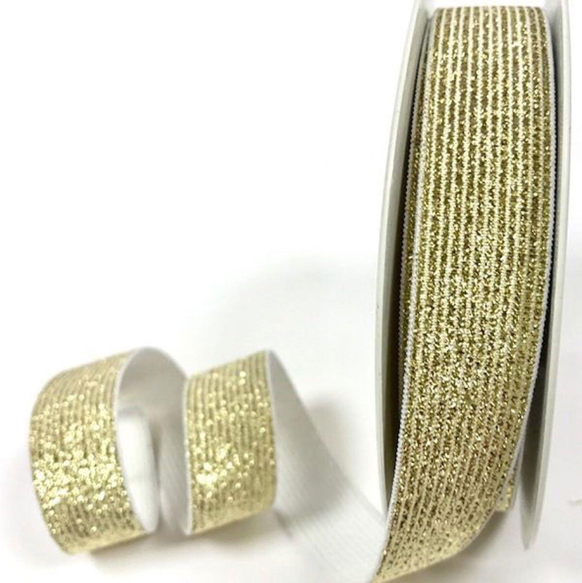 Tricot Créations - Tela elástica plana metálica (20 mm x 1 metro ...