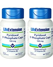 Pyridoxal 5 Phosphate Caps, 100 mg, 60 vcaps by Life Extension (Pack of 2)