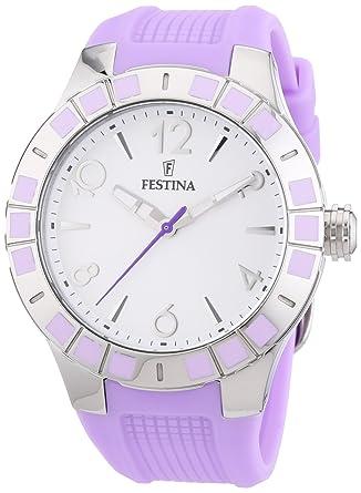Festina F16676/2 - Reloj de Pulsera Mujer, Caucho, Color Morado ...