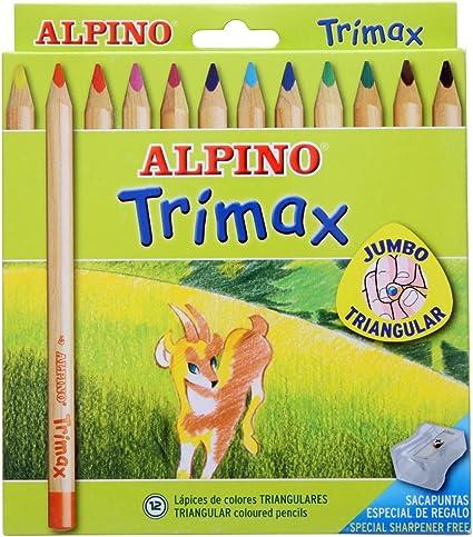 Alpino-490251 Pack de 12 lápices, Colores Surtidos, Multicolor ...