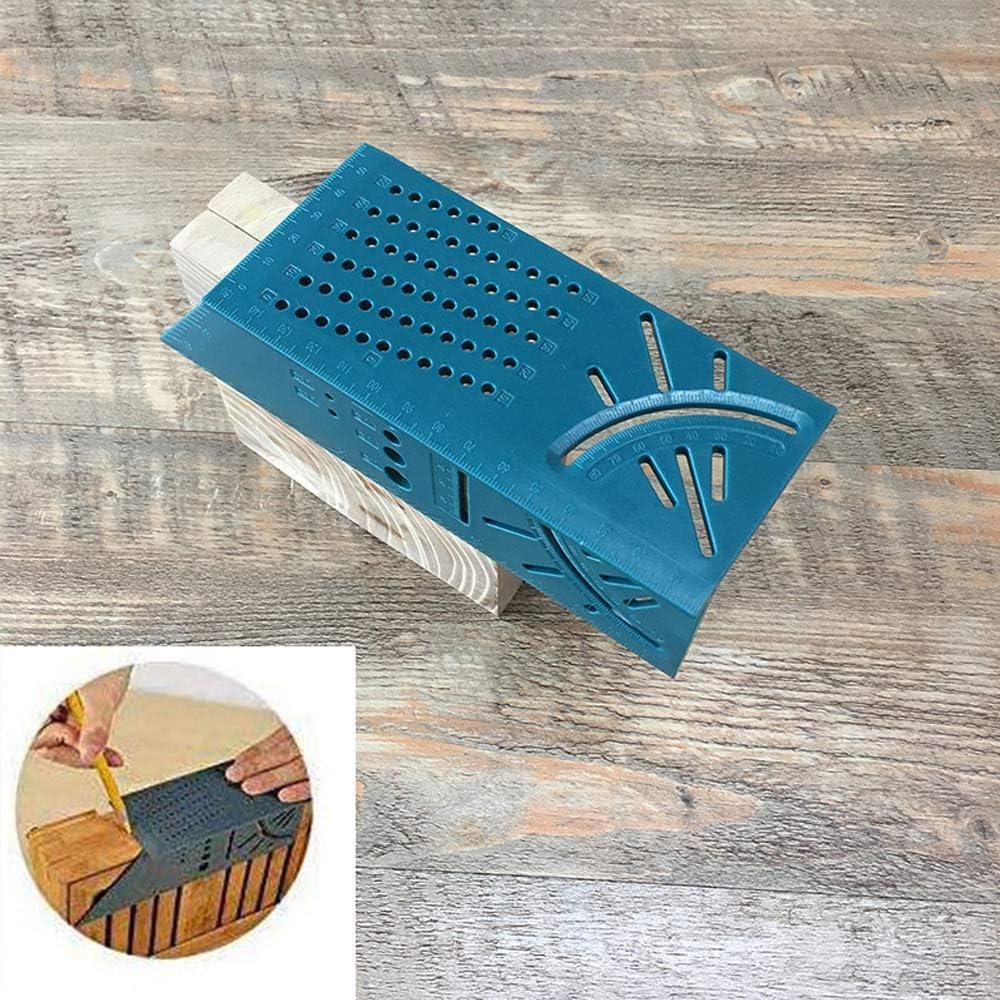 Amoyer Multifunzionale del Legno Tridimensionale Posizionamento Righello Hole Scribing Gauge Plastica Barrato Righello Carpenter Strumento di Misurazione