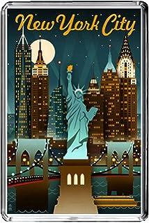 F166 NEW YORK CITY FRIDGE MAGNET USA VINTAGE TRAVEL PHOTO CALAMITA DA FRIGO