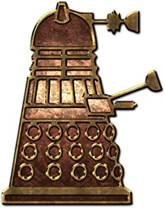 "Bargain Max Decals Dalek Inspired Robot Side Copper Metal Window Laptop Car Sticker 5.5"""