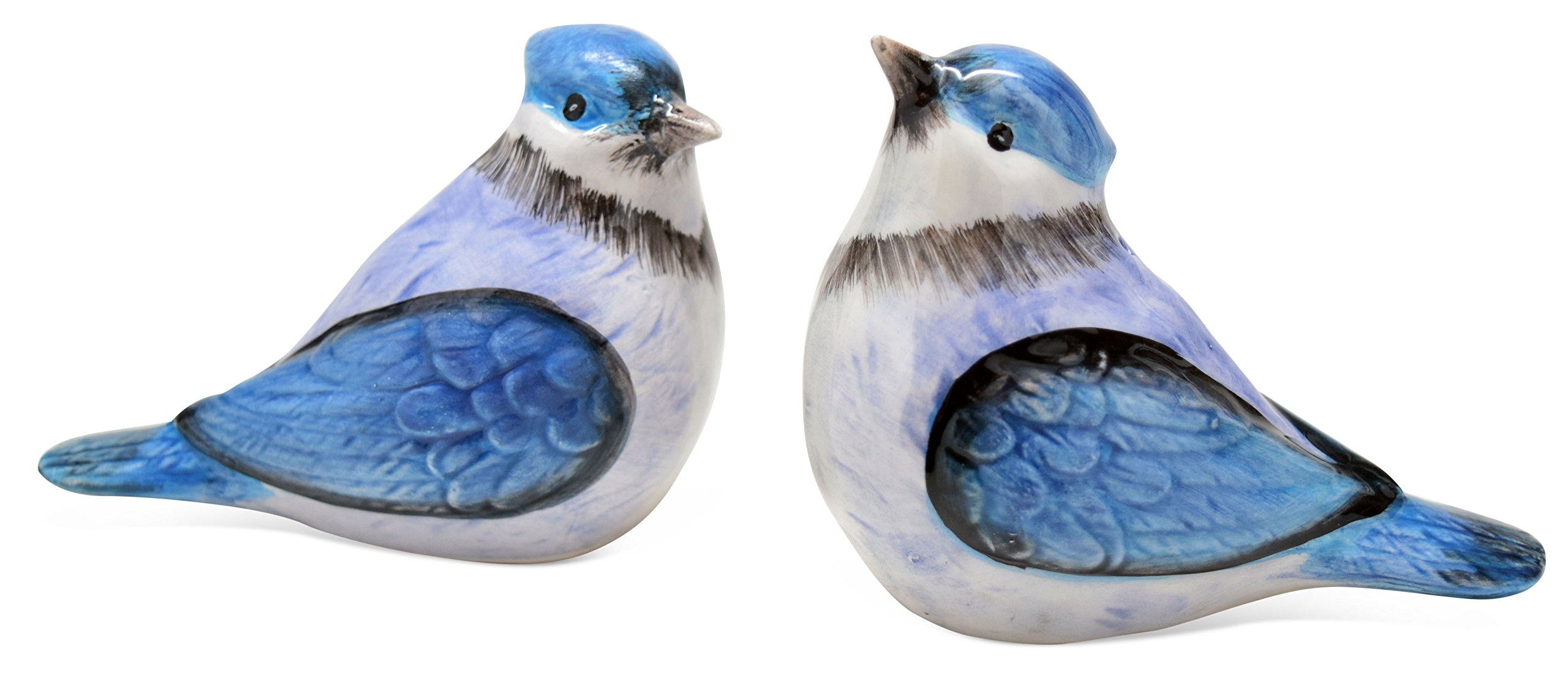 Dolomite Blue Bird Everyday Salt and Pepper Shaker Set of 2 by TII