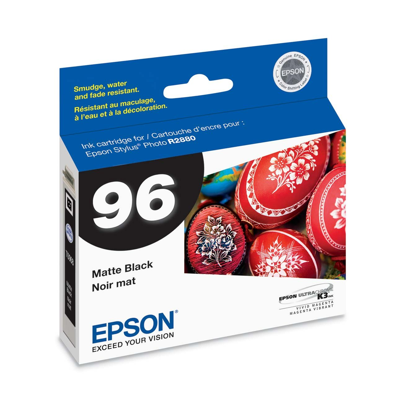 Epson T096820 Stylus Photo R2880 Printer UltraChrome K3 Ink Cartridge (Matte Black)