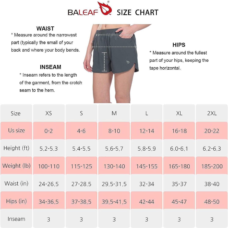 BALEAF Womens 3 Running Shorts Gym Athletic Shorts Pockets