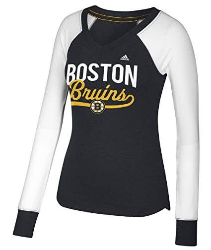 Boston Bruins Women s Adidas NHL  quot Puck Drop quot  Dual Blend Long  Sleeve T- ae4085bc8